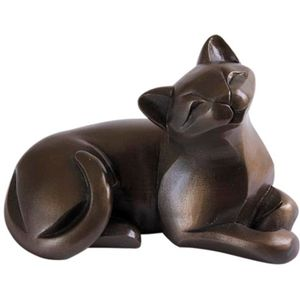 The Gallery Collection Cold Cast Bronze Figurine - Cat Lying