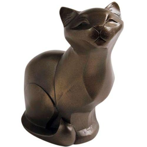 Arora design gallery cat figurine in bronze finish