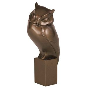 The Gallery Collection Cold Cast Bronze Figurine - Owl Resting
