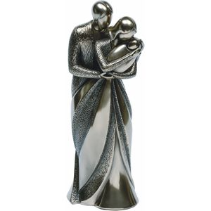 Parents with Baby Bronze Figurine