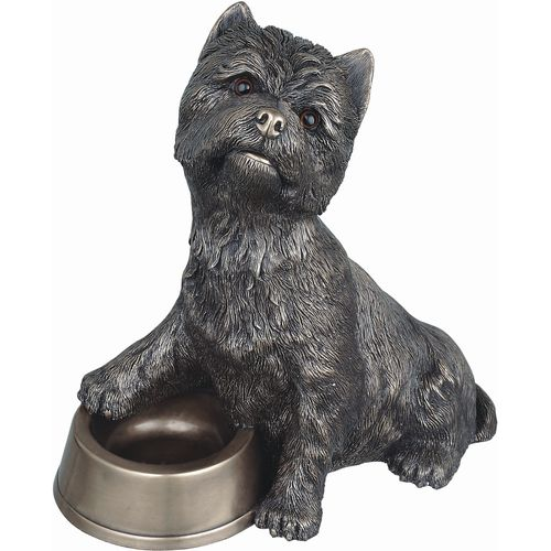 Genesis Cold Cast Bronze Figurine PP018: Westie with Bowl