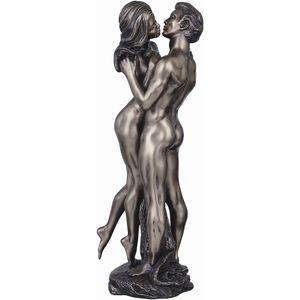 The Embrace Bronze Lovers Figurine