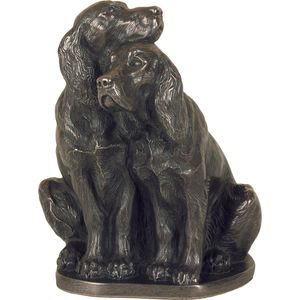 Genesis Bronze Figurine: Pair of Spaniels