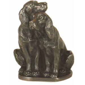 Genesis Cold Cast Bronze Figurine - Pair of Spaniels