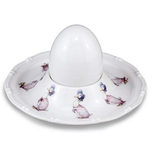 Reutter Porcelain Beatrix Potter Jemima Puddle-Duck Egg Cup Plate