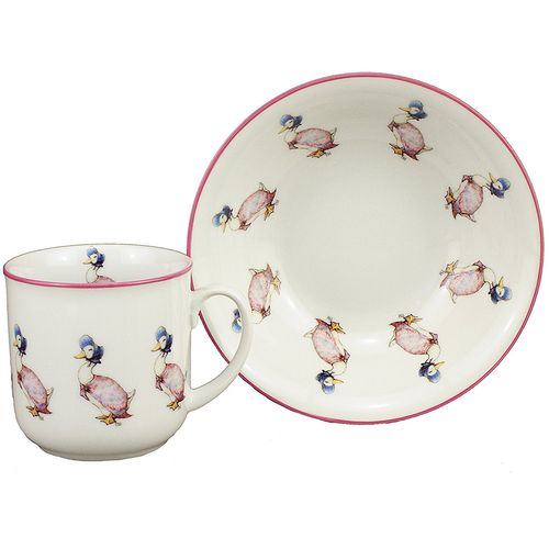 Reutter Porcelain Beatrix Potter Jemima Bowl & Mug Gift Set