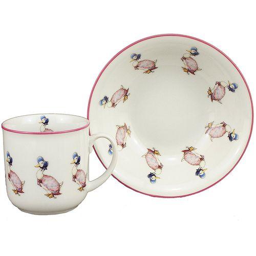 Reutter Porcelain Beatrix Potter Jemima Bowl & Mug Gift Set