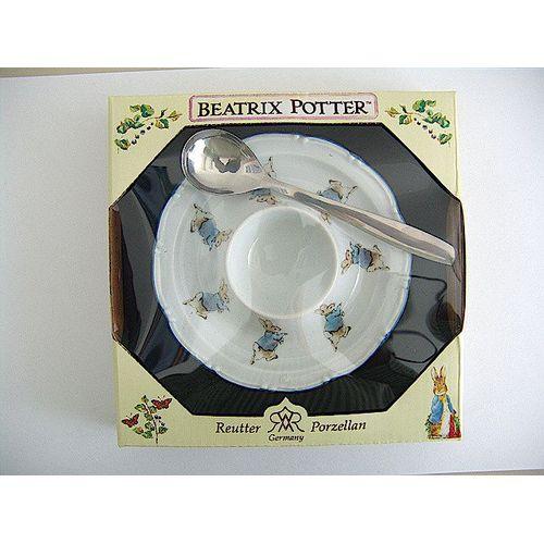 Reutter Porcelain Beatrix Peter Rabbit egg cup & spoon gift set