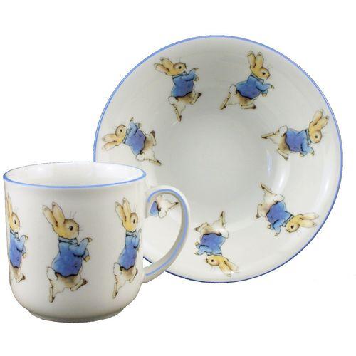 Reutter Porcelain bowl & Mug Breakfast set with Peter Rabbit design