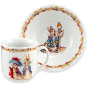 Reutter Porcelain Beatrix Potter Peter Rabbit 2 Piece Breakfast Set