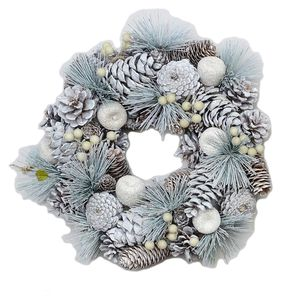 Pine Cones & Apples Frosted Wreath 39.0cm