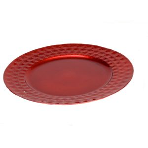 Charger Plate Red - 33cm