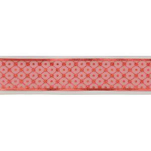 "Christmas Wrapping - Ribbon Red Sheer Organza Pattern 2.5"" x 10Y"