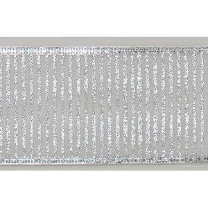"Christmas Wrapping - Ribbon Silver Stripes 2.5"" x 10Y"