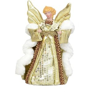 Angel Christmas Tree Topper Champagne - 20cm