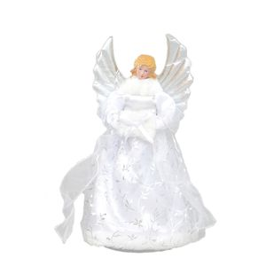 Angel Christmas Tree Topper White - 30cm