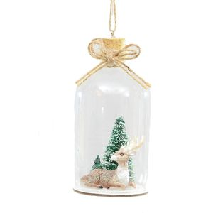 Reindeer in Bottle Christmas Tree Decoration