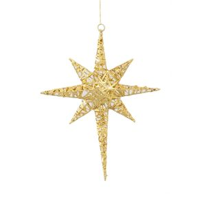 Bethlehem Star Gold Hanging decoration 17""