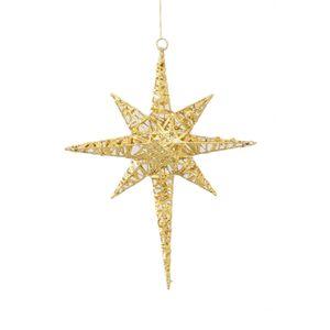 Christmas Hanging Decoration - Gold Bethlehem Star (Large)
