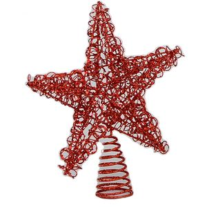 Wire Christmas Tree Topper (Red)