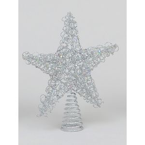 Wire Christmas Tree Topper (Silver)