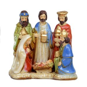 Nativity Figurine ( colourful glazed ceramic)