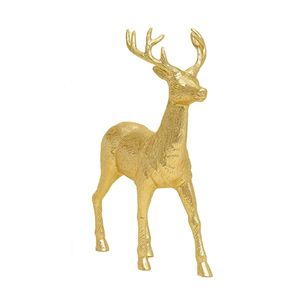 Standing Reindeer Gold Ornament