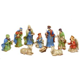 Christmas Nativity Figurine Set (10 Pieces)