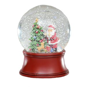 Santa with Tree Christmas Snow Globe 12.0cm