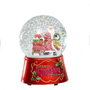 Christmas Decoration - Santa Musical Snow Globe