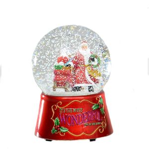 Santa Christmas Musical Snow Globe 10.0cm