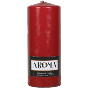 Aroma Pillar Candle 25cm x 10cm - Red