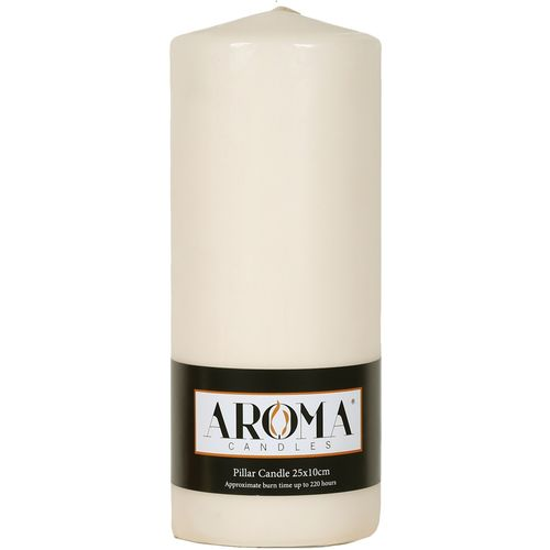 Aroma Pillar Candle 25cm x 10cm - Ivory