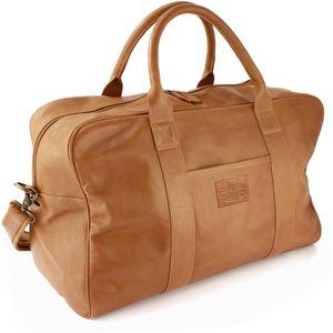 British Bag Company Leather Holdall - Tan