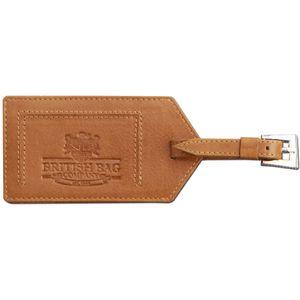 British Bag Company Leather Luggage Tag - Tan