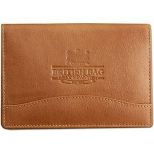 British Bag Company Leather Passport Holder - Tan