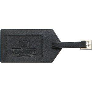 British Bag Company Leather Luggage Tag - Black
