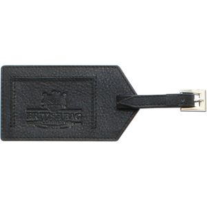 Luggage Tag Black Leather