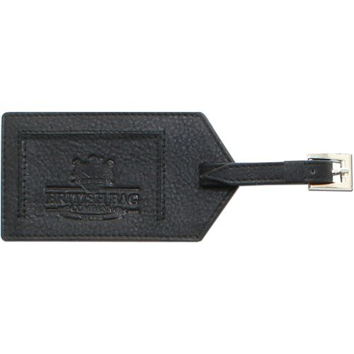 From the British Bag Company Black Leather Luggage Tag