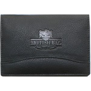 British Bag Company Leather Passport Holder - Black