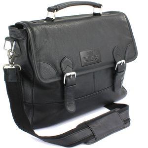 British Bag Company Leather Briefcase - Black