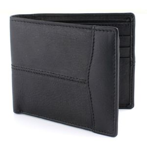 Mens Wallet - Black Leather