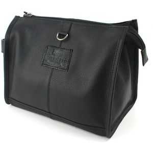 British Bag Co Leather Wash Bag: Rutland Range (Black)