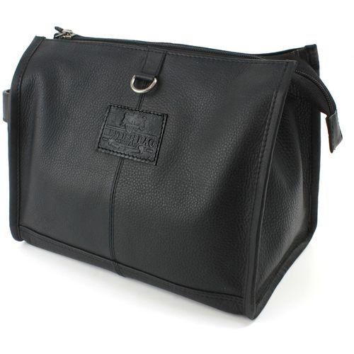 British Bag Company Leather Wash Bag: Rutland (Black)