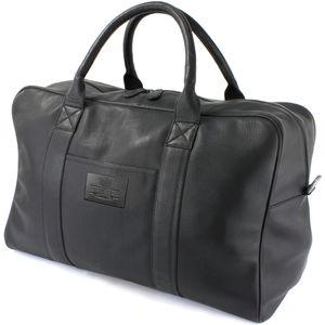 British Bag Company Leather Holdall - Black