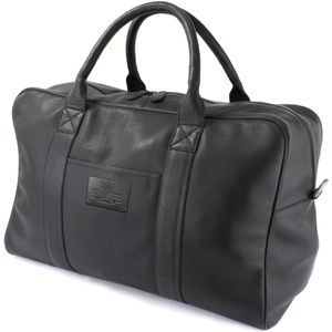 The British Bag Company Holdall Black Leather
