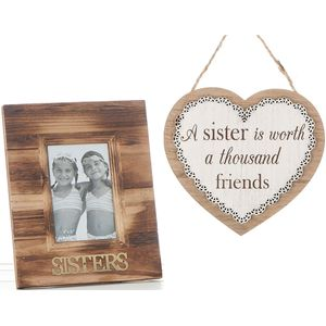Sister Photo Frame & Plaque Gift set