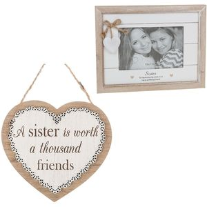 Sister Sentiment Photo Frame & Plaque Gift Set
