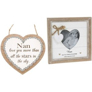 Nan Message Photo Frame & Plaque Gift Set