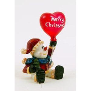 Christmas Decoration - Merry Christmas Frosty Snowman Figurine